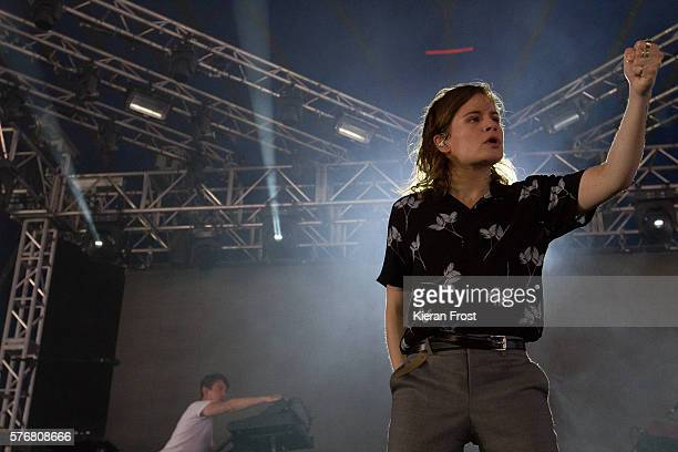 Heloise Letissier aka Christine and the Queens performs Longitude Festival at Marlay Park on July 17 2016 in Dublin Ireland