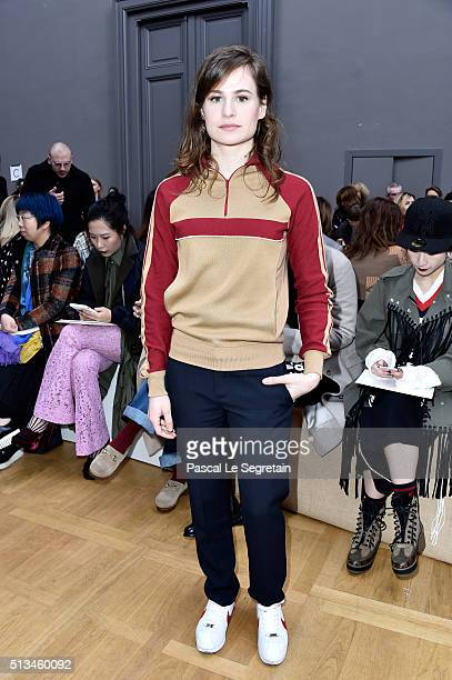 Heloise Letissier from Christine and the Queens attends the Chloe show as part of the Paris Fashion Week Womenswear Fall/Winter 2016/2017 on March 3...