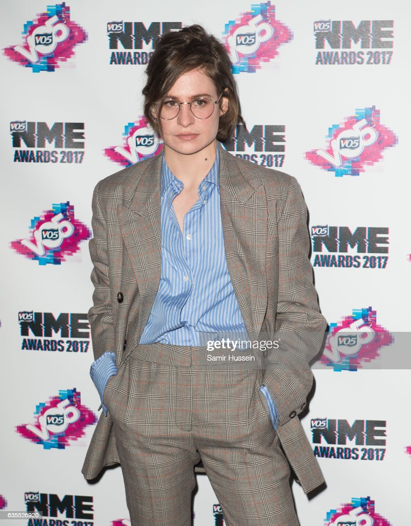 Heloise Letissier of Christine And The Queens arrives at the VO5 NME awards 2017 on February 15, 2017 in London, United Kingdom.