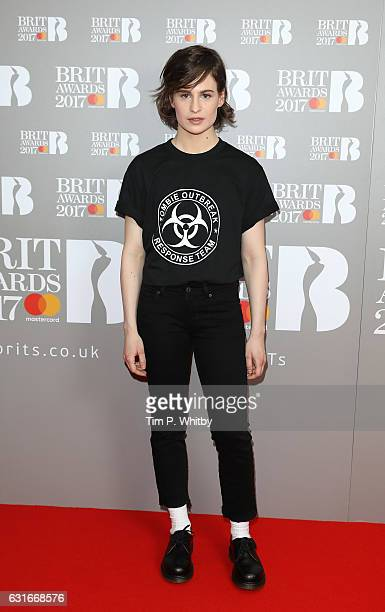 ARTIST Heloise Letissier of Christine and the Queens attends The BRIT Awards 2017 nominations launch party at ITV Studios on January 14 2017 in...