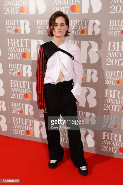 ONLY Heloise Letissier of Christine And The Queens attends The BRIT Awards 2017 at The O2 Arena on February 22 2017 in London England