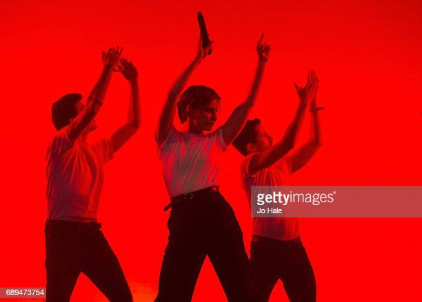 Heloise Letissier of Christine and the Queens performs on stage on Day 2 of BBC Radio 1's Big Weekend 2017 at Burton Constable Hall on May 28 2017 in...
