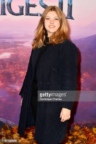 "Heloise Martin attends ""Frozen 2"" Paris Gala Screening at Cinema Le Grand Rex on November 13, 2019 in Paris, France."