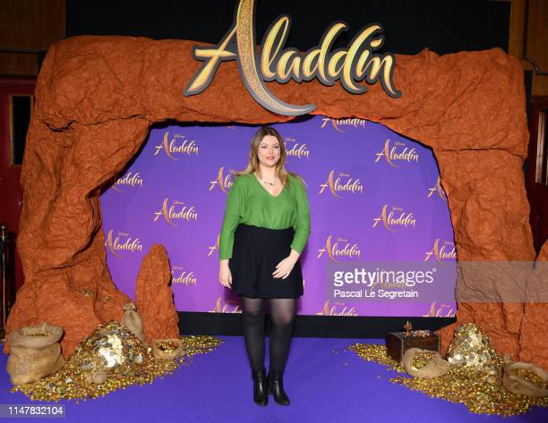 "Heloise Martin attends the ""Aladdin"" gala screening at Le Grand Rex on May 08, 2019 in Paris, France."