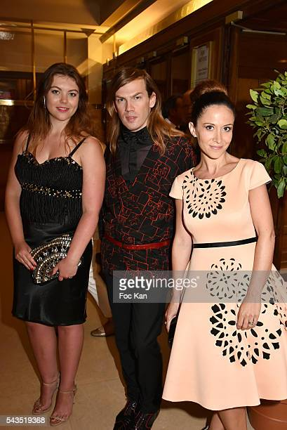 Heloise Martin, Christophe Guillarme and Fabienne Carat attend 22th Amnesty International France : Gala at Theatre des Champs Elysees on June 28,...