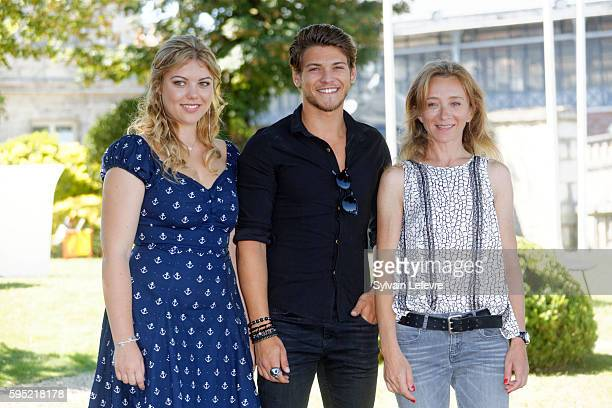 Heloise Martin Rayane Bensetti and Sylvie Testud attend 9th Angouleme FrenchSpeaking Film Festival on August 25 2016 in Angouleme France