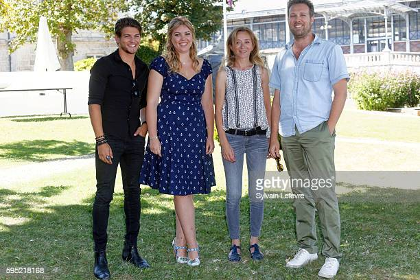 Heloise Martin, Rayane Bensetti, Sylvie Testud and Alexandre Castagnetti attend 9th Angouleme French-Speaking Film Festival on August 25, 2016 in...