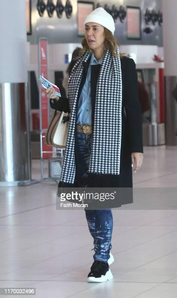 Heloise Pratt is seen departing Perth Airport on August 25 2019 in Perth Australia