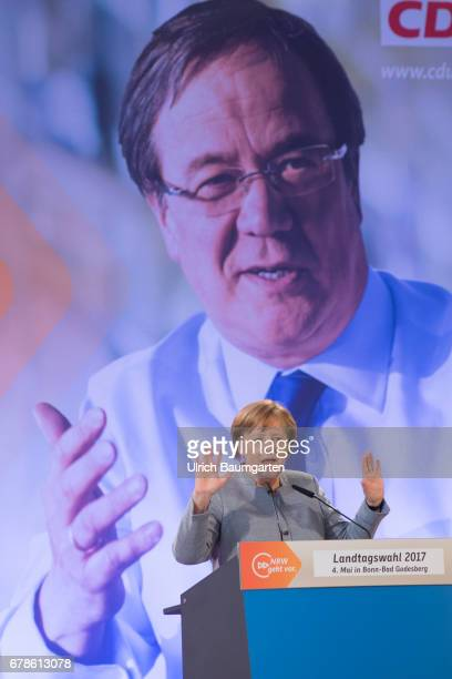 Help in the election campaign election campaign of the CDU for the regional elections in North RhineWestphalia Federal ChancellorAngela Merkel during...