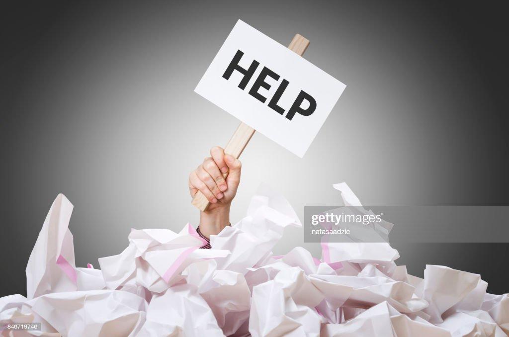 Help placard : Stock Photo