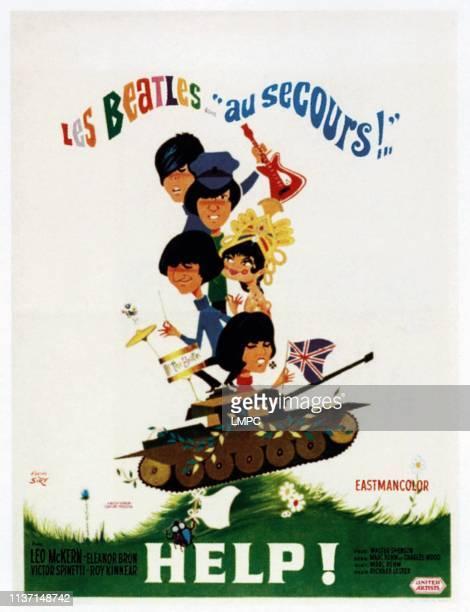 Paul McCartney John Lennon Ringo Starr Eleanor Bron on French poster art 1965