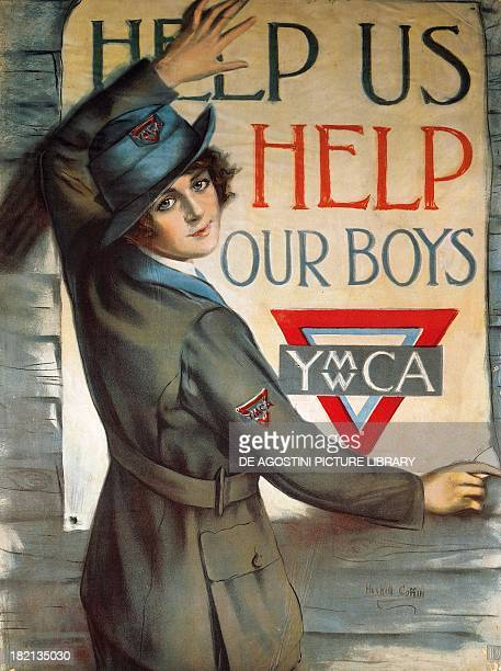 Help us help our boys propaganda poster for the YMCA by Huskell Cottin World War I United States 20th century Milan Civico Museo Del Risorgimento