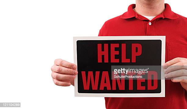 Help Wanted Sign Man