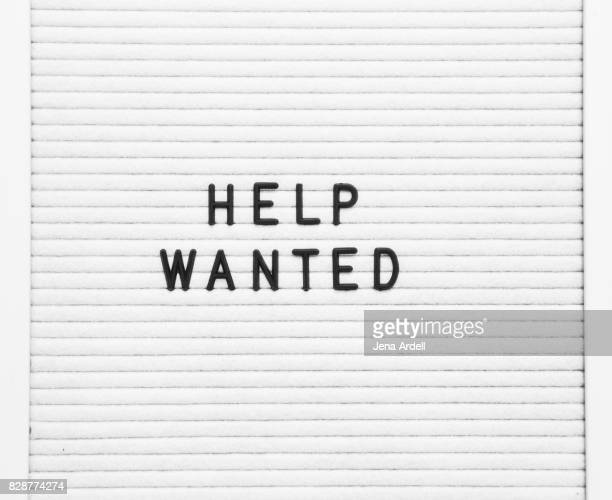 help wanted sign - help wanted sign stock photos and pictures