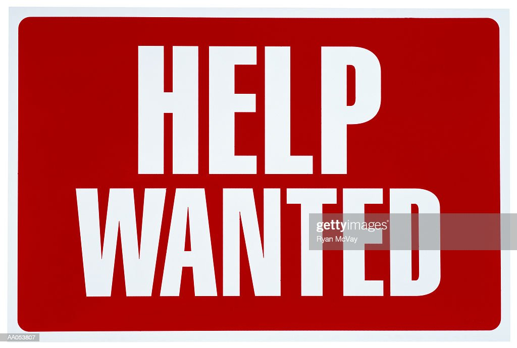 help wanted sign ストックフォト getty images