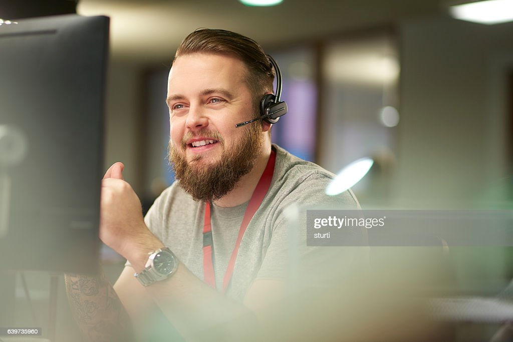 helpful customer service representative : Stock Photo