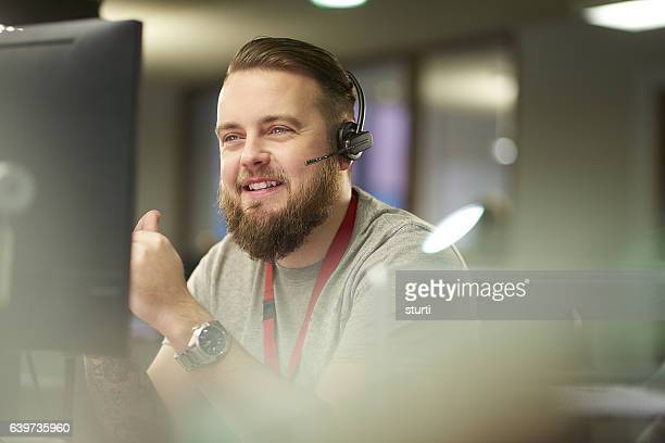 helpful customer service representative - information technology support stock photos and pictures