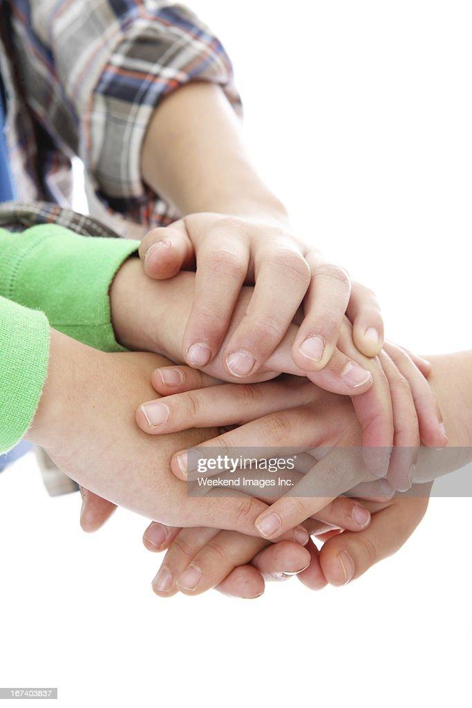 Helping hands : Bildbanksbilder