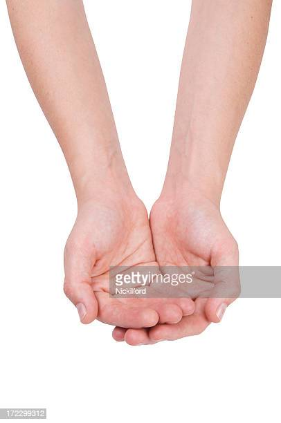 helping hands - hands cupped stock pictures, royalty-free photos & images