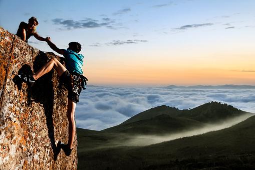 Helping hikers - gettyimageskorea