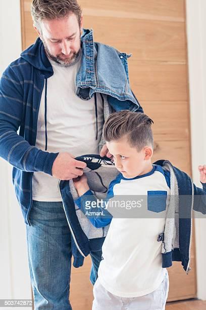 彼のサポートには、彼のジャケット