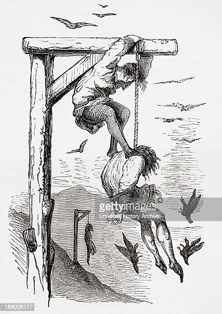Helping The Hanging Man To Die After A Drawing By Gustave Dore For Gargantua And Pantagruel From Life And Reminiscences Of Gustave Dore Published 1885