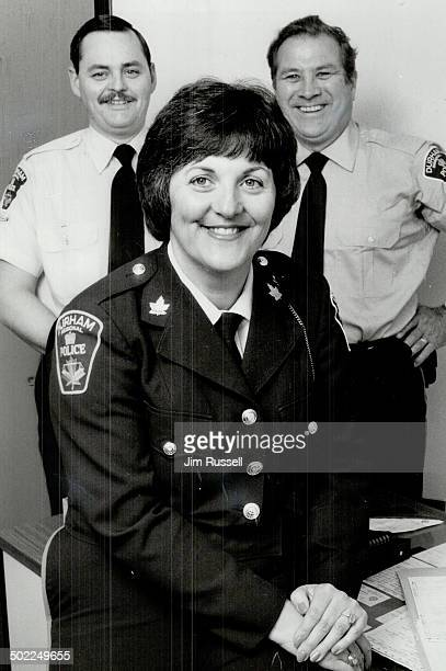 Helping victim: Constable Anne Crawford heads the Victims of Crime program, aided by auxiliary constables Bob Buller and David O'Flynn. The team has...
