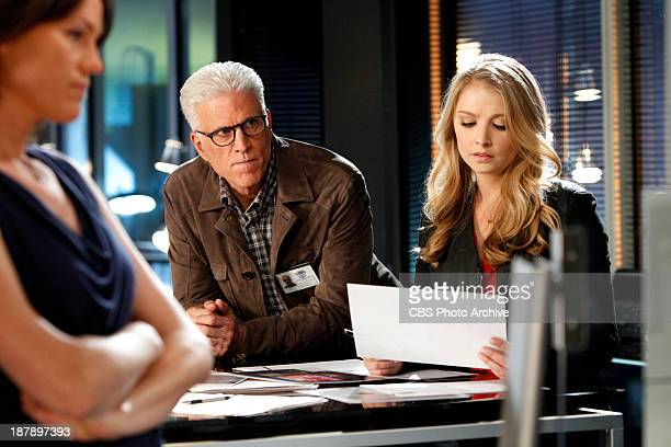 """Helpless"""" - Sara Sidle D.B. Russell and Morgan Brody go through paperwork vital to the case as investigate a serial rapist, on CSI CRIME SCENE..."""