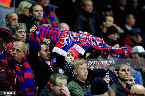 Helsingborgs IF supporters during the UEFA Europa League group stage match between Helsingborgs IF and FC Twente held on October 4 2012 at the...