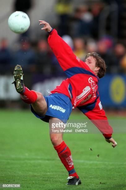 Helsingborgs' Stig Johansen tries an overhead kick