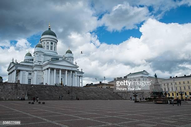 helsingin tuomiokirkko - lahti finland stockfoto's en -beelden