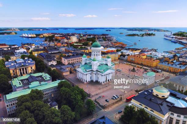 helsinki aerial, finland - finland stock pictures, royalty-free photos & images