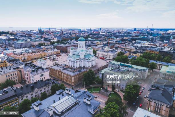 helsinki aerial, finland - helsinki stock pictures, royalty-free photos & images