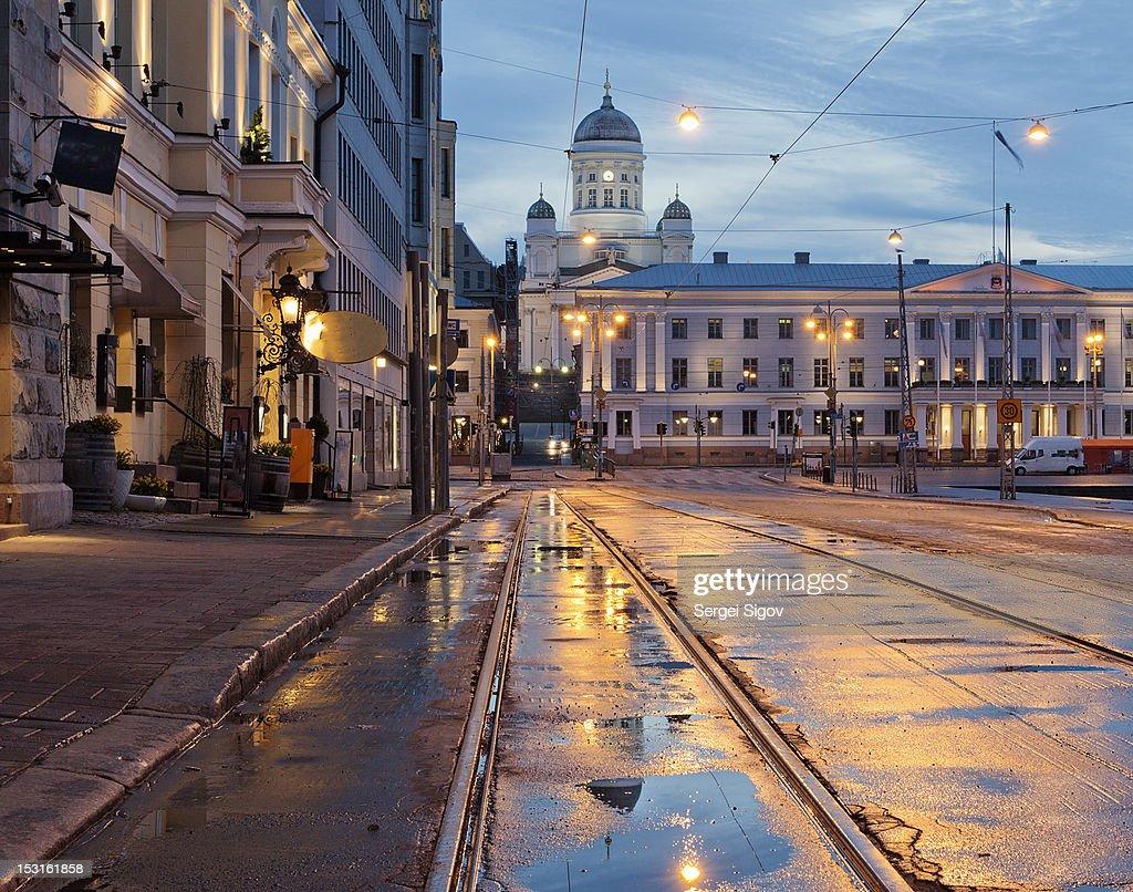 Helsinki after  rain : Stock Photo