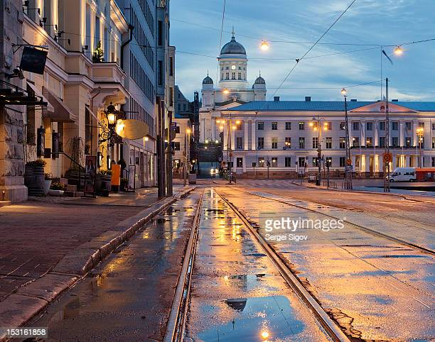 helsinki after  rain - helsinki stockfoto's en -beelden