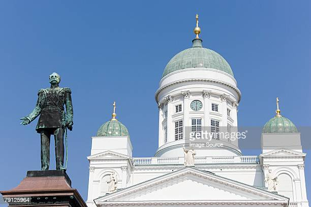 Helsinki cathedral and czar alexander ii statue