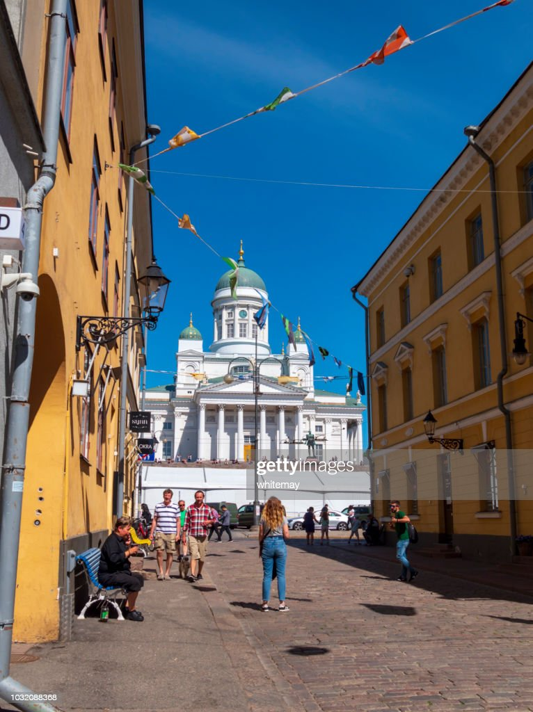 Helsinki Cathedral and Old Town : Stock Photo