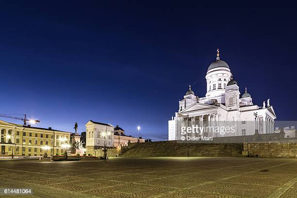 Helsinki Cathedral at night in Helsinki, Finland capital city.