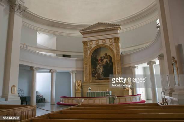 Helsinki cathedral church altar in finland