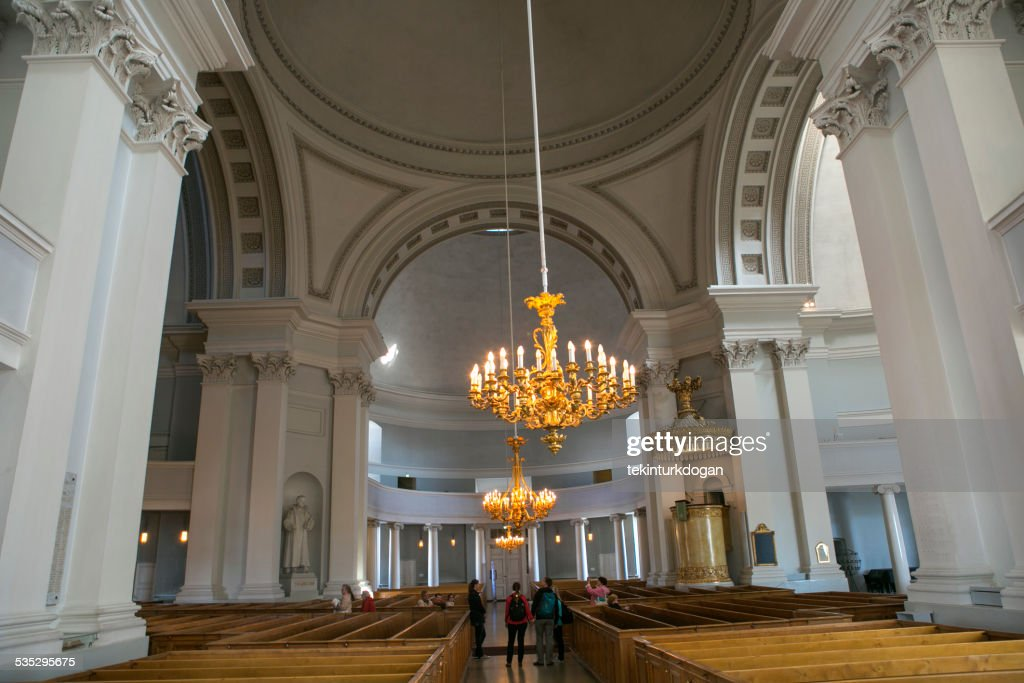 Helsinki cathedral church in finland : Stock Photo