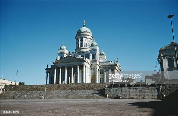 Helsinki Cathedral in Kruununhaka, Helsinki, Finland, circa 1965. It was built in 1830-1852, and was formerly known as St Nicholas' Church.