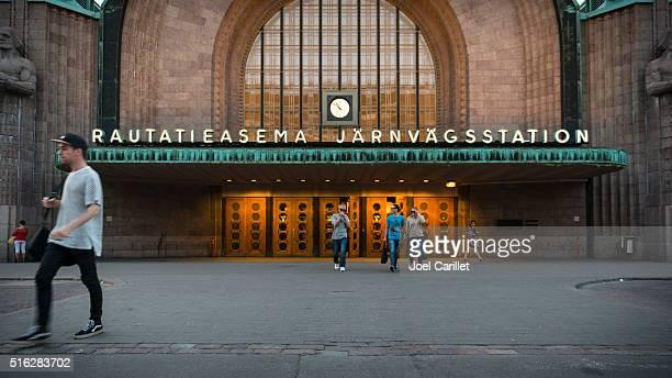 Helsinki Central railway station in Finland