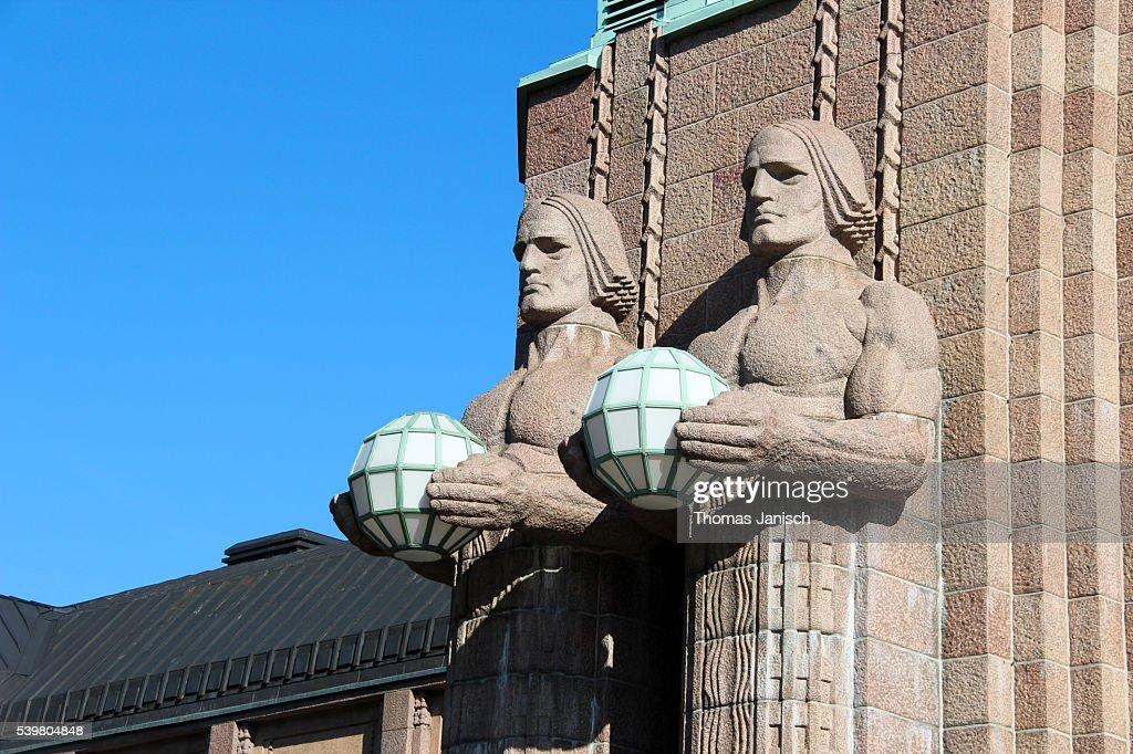 Helsinki central railway station : Stock Photo