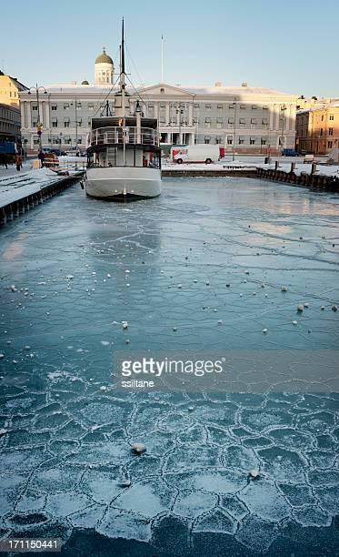 Helsinki, Finnland Winter Harbor
