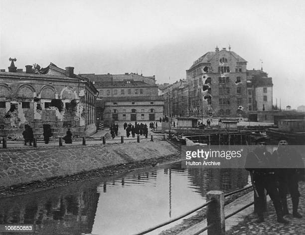 Helsinki in Finland following a period of Civil War 1918 The Communist Red Guard had captured the city but were driven out by the White Guard under...