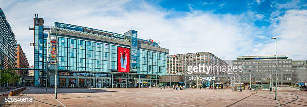 Helsinki Kamppi Center plaza and downtown shopping mall panorama Finland