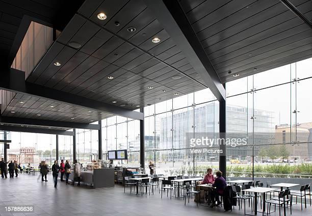 Helsinki Music Center Helsinki Finland Lpr Arkkitehdit General View Of Cafeteria And Restaurant Lpr Arkkitehdit Finland Architect