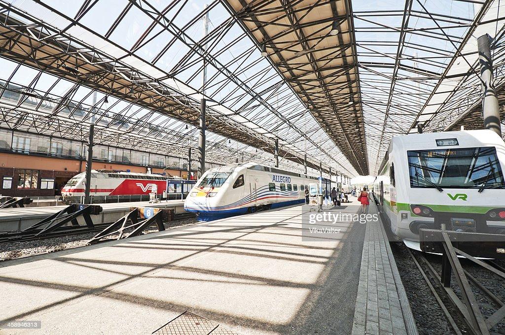 Helsinki railway station : Stock Photo