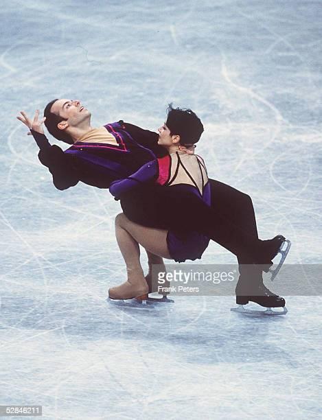 WM 1999 Helsinki Sarah ABITBOL/FRA Stephane BERNADIS/FRA PAARE/PAAR KUER