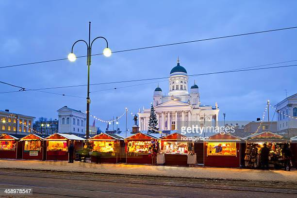 Helsinki, Senat Square with the Cathedral in winter time